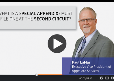 What is a Special Appendix? Must I File One at the Second Circuit?
