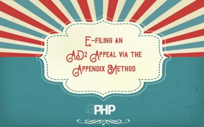 E-filing an AD2 Appeal via the  Appendix Method