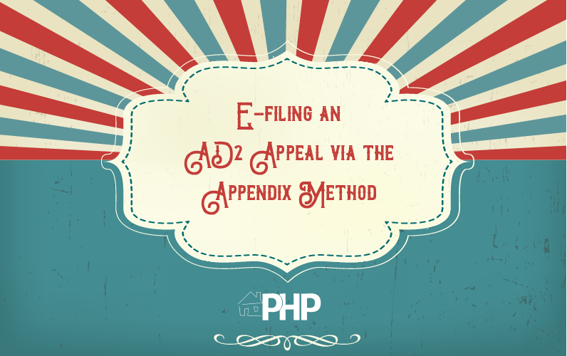 E-filing an AD2 Appeal via the  Appendix Method