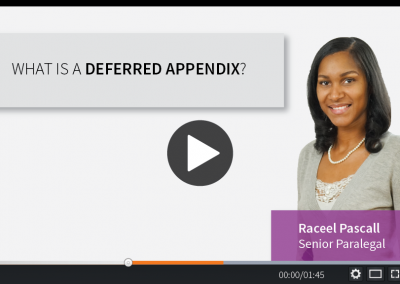 What is a deferred appendix?