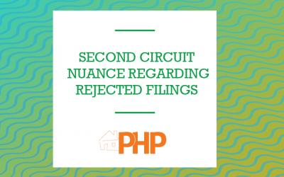Second Circuit Nuance Regarding Rejected Filings