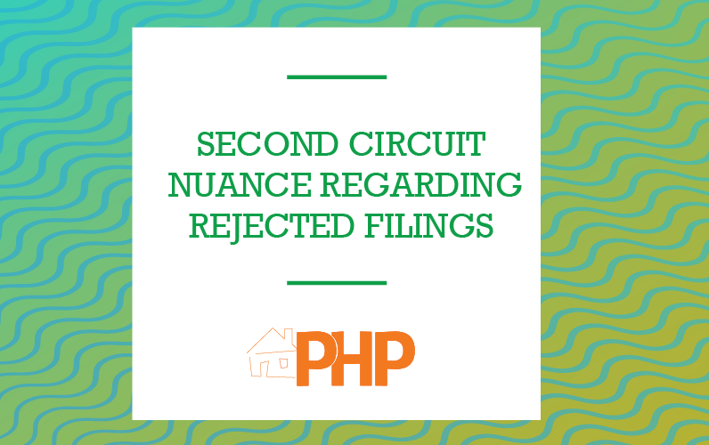 Second Circuit Nuance Regarding Rejected Filings