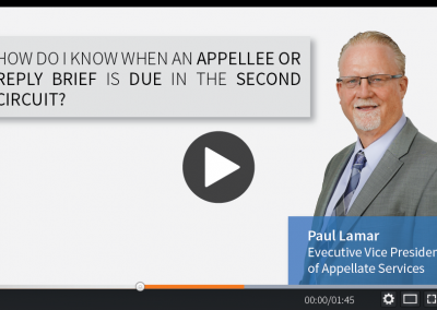 How do I know when an Appellee or Reply Brief is Due in the Second Circuit?