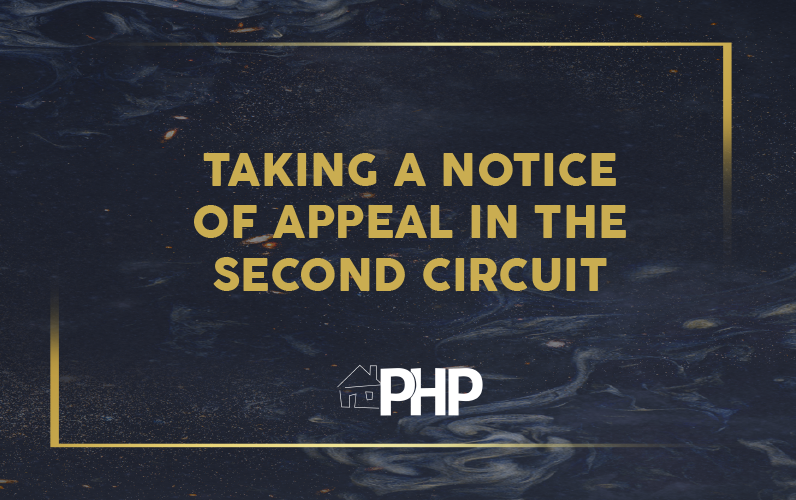 Taking a Notice of Appeal in the Second Circuit