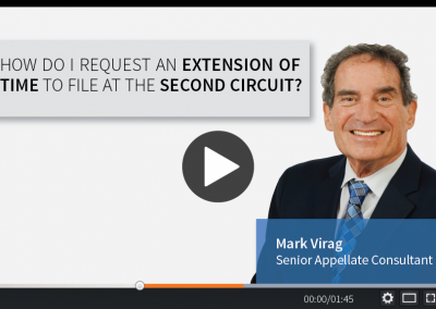 How Do I Request an Extension of Time to File at the Second Circuit?