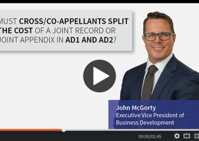 Must Cross/Co-Appellants Split the Cost of a Joint Record or Joint Appendix in AD1 and AD2?