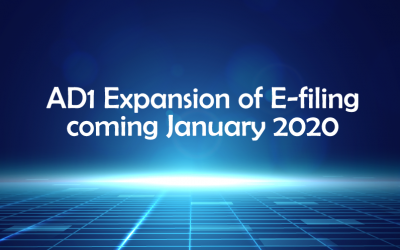 AD1 Expansion of E-filing coming January 2020