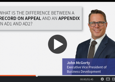 What is the Difference Between a Record on Appeal and an Appendix in AD1 and AD2?