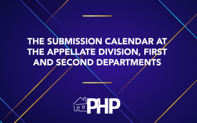 The Submission Calendar at the Appellate Division, First and Second Departments