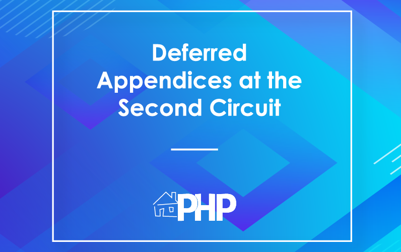Deferred Appendices at the Second Circuit