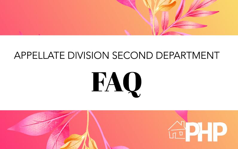 Appellate Division Second Department FAQ