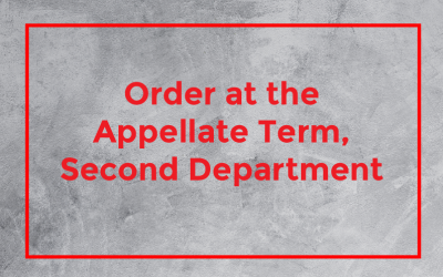 Order at the Appellate Term, Second Department