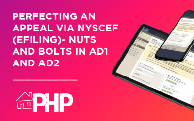 Perfecting an Appeal via NYSCEF (Efiling)- Nuts and Bolts in AD1 and AD2