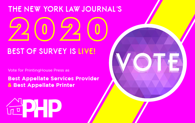 The 2020 NYLJ 'Best Of' Survey is LIVE!