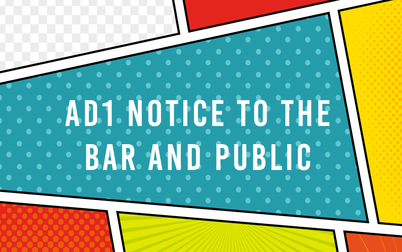 AD1 Notice to the Bar and Public