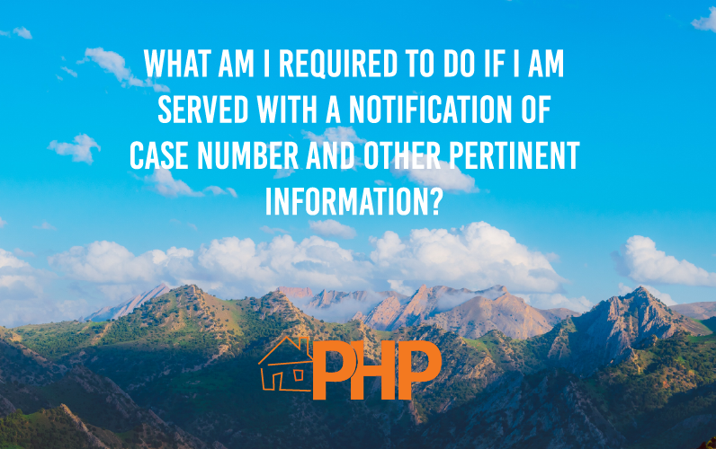 What am I required to do if I am served with a Notification of Case Number and Other Pertinent Information?